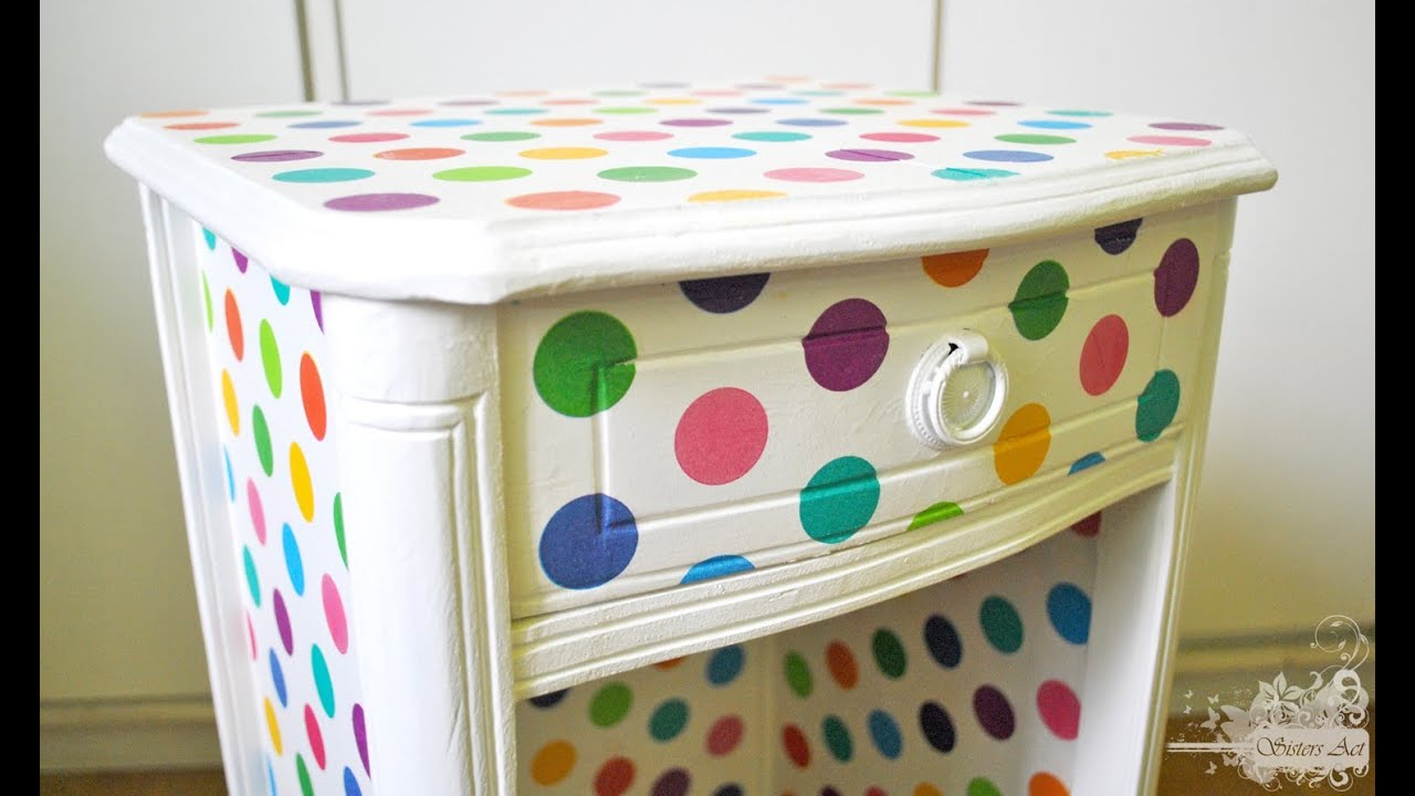 C mo hacer decoupage youtube for Decorar muebles con papel
