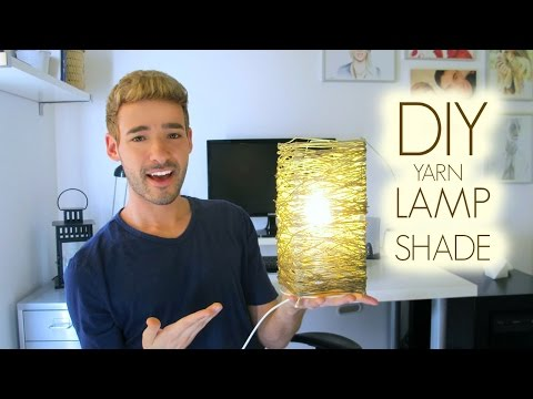 DIY YARN LAMP SHADE | DAN
