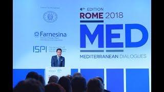 Il Presidente Conte al Rome 2018 - MED Mediterranean Dialogues