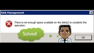 "الحلقة 19 ظهور رساله ""there is not enough space available on the disk(s) to complete the operation"""