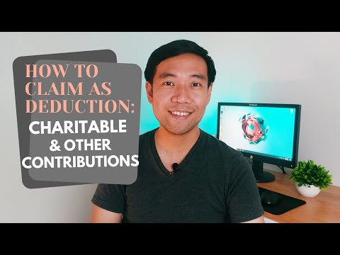 How To Claim Charitable Donations On Tax Deduction