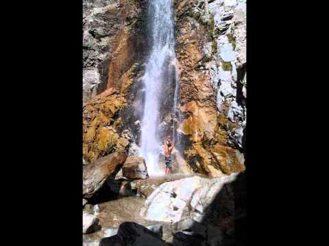 Big Falls Waterfall in San Bernardino Mountains CA in (High Quality)