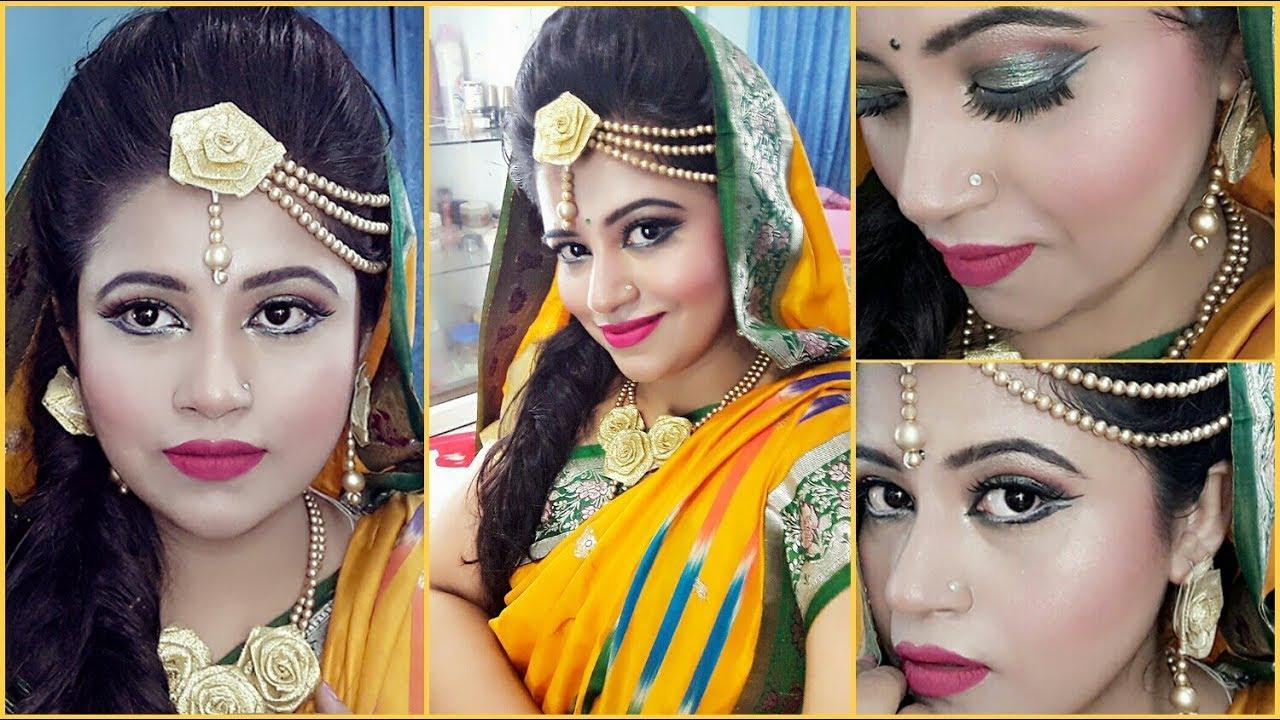 Mehndi Night Makeup : Bridle makeup for haldi mehndi ceremony sharmin soma youtube