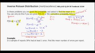 yr 13 distributions inverse poisson 7 - YouTube