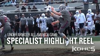2017 Under Armour All-America Game | Specialist Highlight Reel