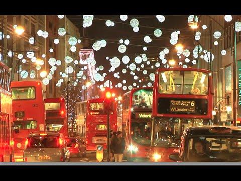 SELFRIDGES and OXFORD STREET LONDON CHRISTMAS LIGHTS 2014