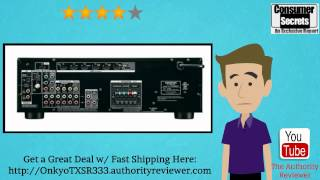 review sale onkyo tx sr333 5 1 channel home theater receiver