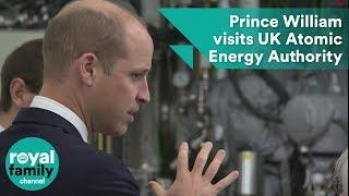 Prince William visits UK Atomic Energy Authority