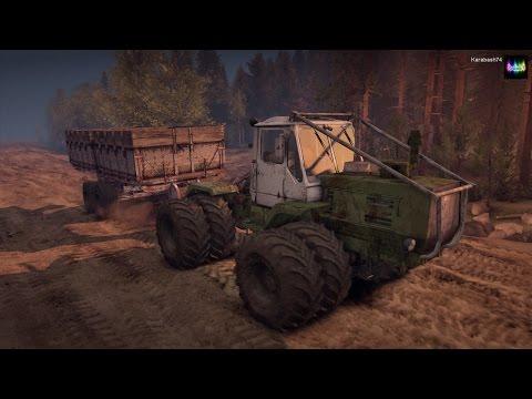 SpinTires обзор мода ( Трактор Т-150К v1.1 )
