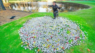 Diving Golf Course P๐nd FOUND 5,000+ LOST Golf Balls!! ($25,000)
