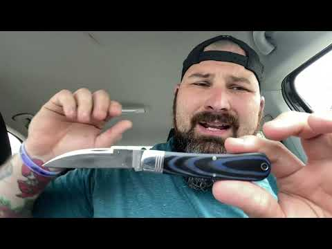 Rough Ryder wharncliff work knife in denim micarta review!  It's perfect!!