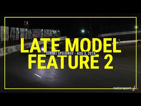Late Model Feature 2 - Sunset Speedway - Aug 3, 2019