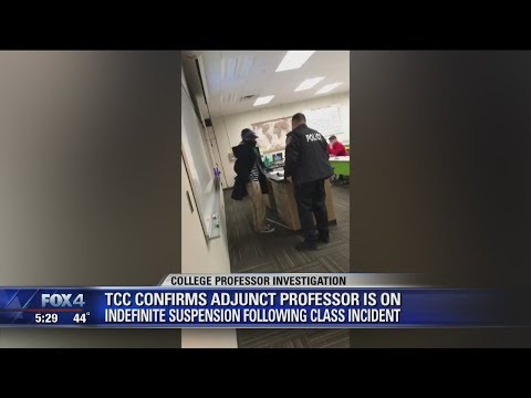 Tarrant County College professor suspended after bizarre behavior