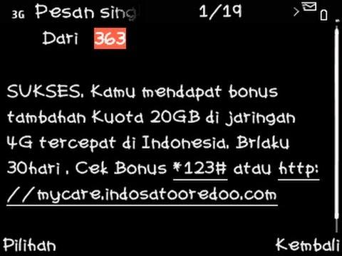 Cara mendapatkan 20GB kuota gratis Indosat secara cuma-cuma
