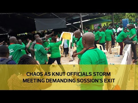 Chaos as Knut officials storm meeting demanding Sossion's exit