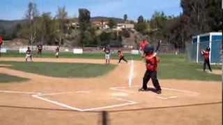 4 year old Christian Haupt highlights from Shetland American Westlake Pony Baseball game 3/23/2013