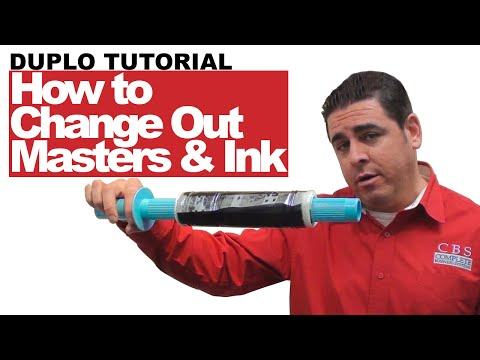 DUPLO DP-F510 | How to Change out Masters and Ink | DUPLO TRAINING, Video 3 [3]