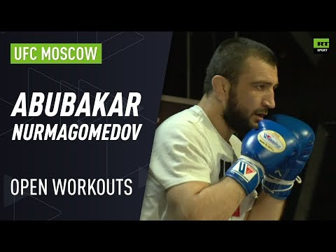 Abubakar Nurmagomedov trains with Islam Makhachev & Javier Mendez at UFC Moscow Open Workouts
