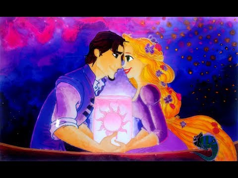 GLASS PAINTING OF RAPUNZEL