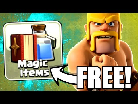 FREE MAGIC ITEM.....YES PLEASE! - Clash Of Clans