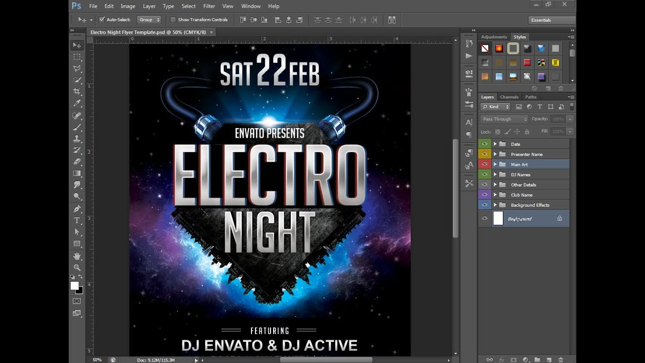 Electro Night Flyer YouTube – Electro Flyer