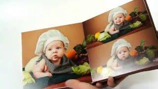Детская фотокнига серии Арт(Фотокнига 20х20, 10 разворотов. Обложка: козам с врезкой фотографии на всю ширину обложки, ламинация