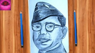 How to draw Netaji || 23 January drawing for beginner step  by step