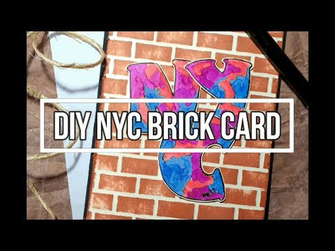 Fresh Friday Series - NYC Embossed Brick wall background   DIY grafitti card