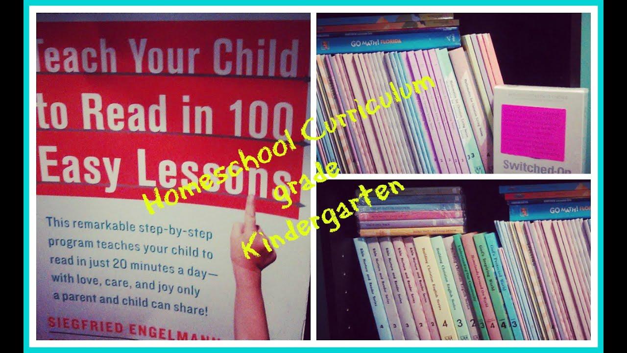 Affordable Homeschool Curriculum Schedule Kindergarten