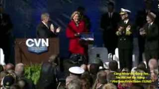 Aircraft Carrier Gerald R  Ford (CVN 78) Christened at Newport News Shipbuilding