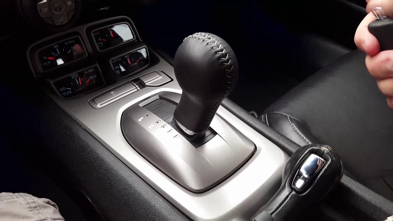 Camaro automatic shifter handle install 5th gen 92213917