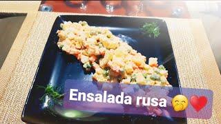 Como preparar una deliciosa ensalada rusa ecuatoriana🇪🇨♥️