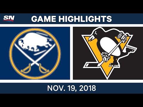 NHL Highlights | Sabres vs. Penguins – Nov. 19, 2018