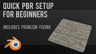 PBR texturing setup for beginners | Blender