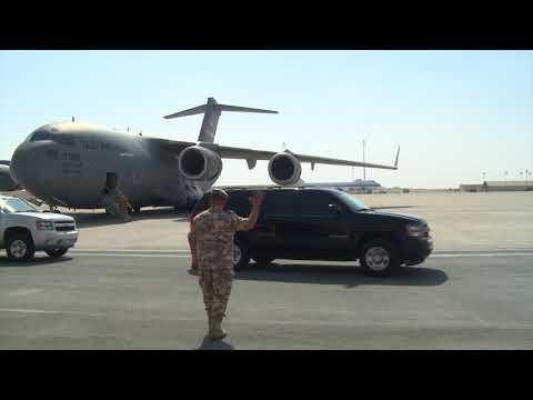 SECDEF visits Al Udeid Air Base