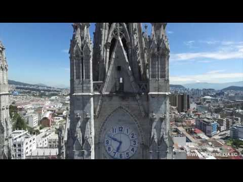 Drone Dji - Basilica del Voto Nacional Quito, Ecuador