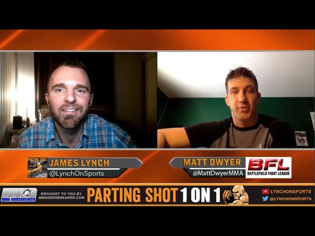 UFC veteran Matt Dwyer talks BFL title fight Nov 18, move up to 185lbs and Fantasy Football