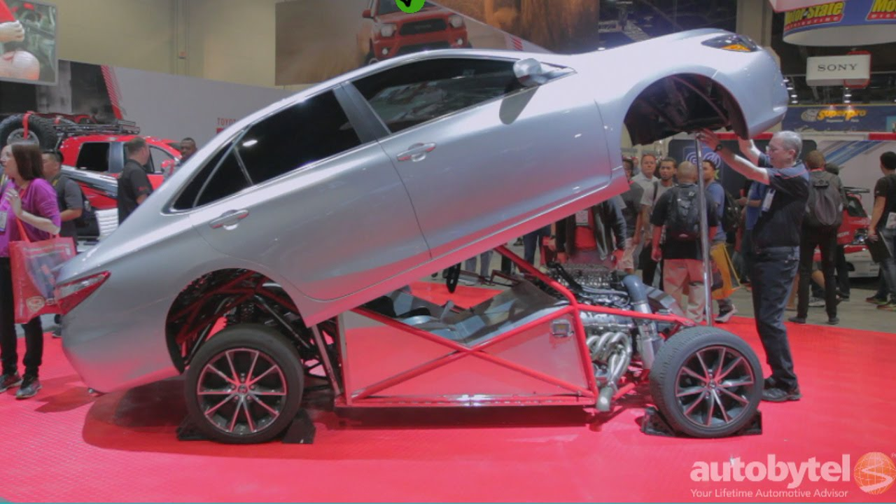Toyota Camry 2014 >> 850 HP 2015 Toyota Camry TRD Sleeper Dragster at #SEMA2014 - YouTube