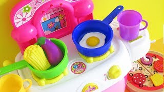 Toy kitchen cooking baby vegetables pizza french fries baby vegetables toy set for children