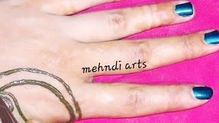 easy simple mehndi design for hands