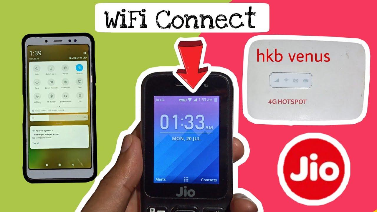 Jio phone mein wi-fi hotspot connect kaise kare
