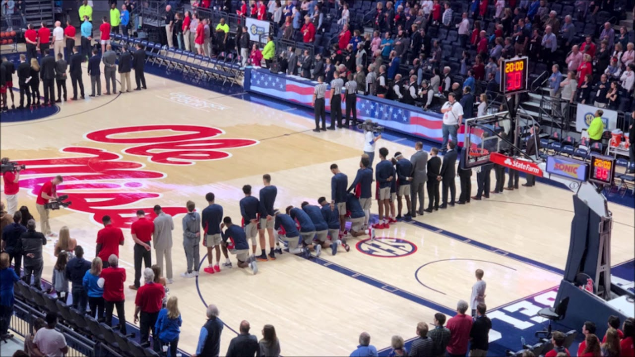 Several Ole Miss Players Kneel During National Anthem Vs Georgia