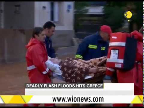 Deadly flash floods in Greece, several killed