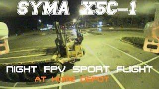 Syma X5C-1 Night FPV Sport Flight At Home Depot  With The Eachine TX03 (BANGGOOD)