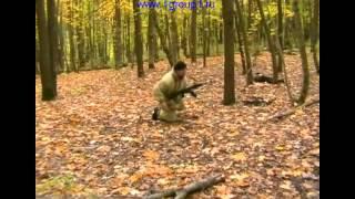 Обучение изготовке для стрельбы лежа. Специальный курс стрельб.
