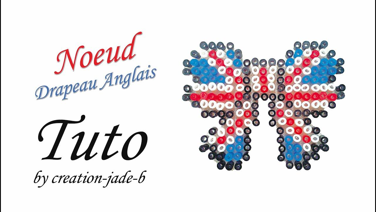 gamme de couleurs exceptionnelle large sélection dégagement Tuto Perles à repasser (Hama) - Nœud Drapeau Anglais !