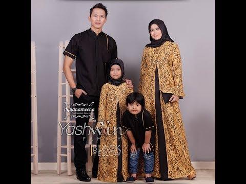 Baju Muslim Couple Keluarga 2018 Elegan Terbaru Trend Baju Lebaran 2018