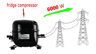 I turn Fridge Compressor into 220v electric Generator