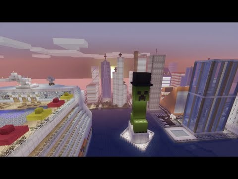 Minecraft Xbox - Taking To The Skies - Newport City Tour - Part 4