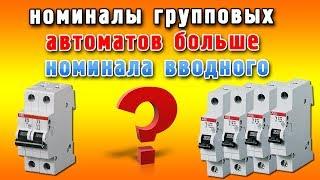 Номиналы групповых автоматических выключателей больше вводного(Как быть в том случае, когда сумма номиналов автоматов по группам превышает номинал вводного автоматическо..., 2014-01-03T15:44:01.000Z)